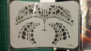 Stencil/Template/Shape Guide  'Face ..FANTASY'  A4 size   was £12 NOW £6.00 inc postage